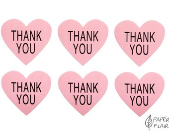 30 stickers heart Thank you (AP-25)