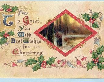 Vintage Christmas Postcard -No. 209