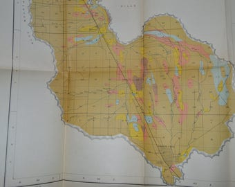 1903 Large Baker City Oregon Map Antique Map Antique Baker City Oregon Map