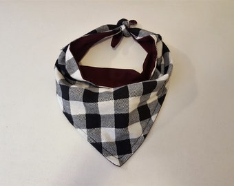 Buffalo Plaid Flannel Dog Bandana