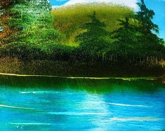 Original Oil Painting, Landscape Oil Painting, Original Art, Canvas Painting, Trees Oil Painting, Landscape Art, New Art.