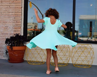 """CLEARANCE- Baby Toddler Girl MINT """"Fit & Flare"""" Dress Sz. 12m-6yo"""