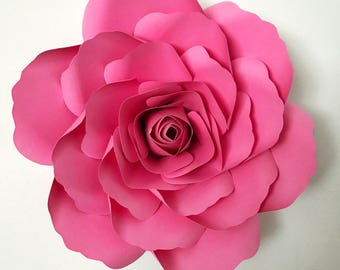 SVG Paper Flower Template with Base, DIGITAL Version - The Kentucky Rose - Original Design by Annie Rose