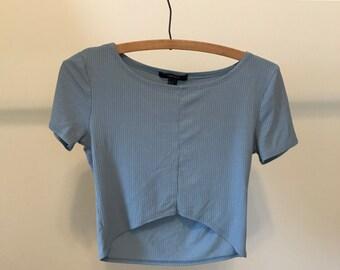 Pastel Blue Crop Top