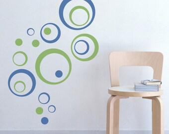 Bubbly Circles Vinyl Wall Decal
