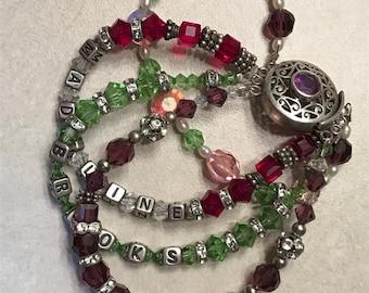 Mother's Bracelets  Sterling silver & Swarovski crystals