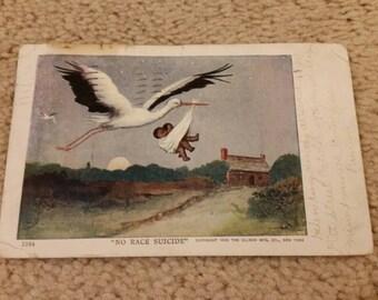 FREE SHIPPING ** 1908 Vintage Black Americana Postcard