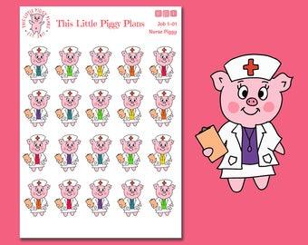 Nurse Planner Stickers - Nurse Stickers - Hospital Stickers - Medical Work Stickers - Planner Stickers - [Job 1-01R]