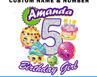 Shopkins Birthday Shirt, Party, Shopkins Birthday Outfit, Shopinkins Dress, 5th Birthday Shirt, Cupcake Queen, fifth birthday, 4th, 3rd, 2nd