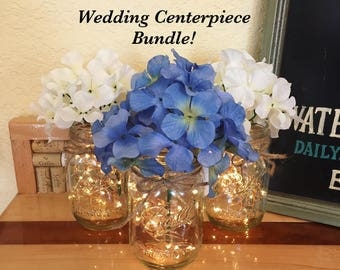 Bulk Of 10 Rustic Wedding Centerpieces Table Centerpiece
