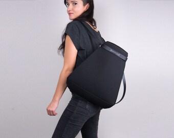 SALE / Rusksack Schwarz / Backpack Black/ Modern Minimalist