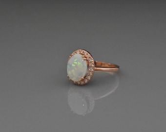 Opal 14k rose gold ring!