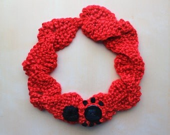 Simply Adorable U Red Leaf with Ladybug Adult Headband Accessory