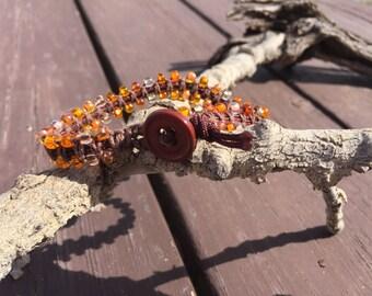 Bracelet, beaded macrame