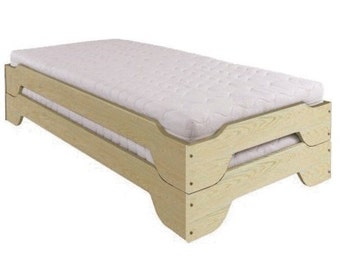 Stack bed 200x90cm solid