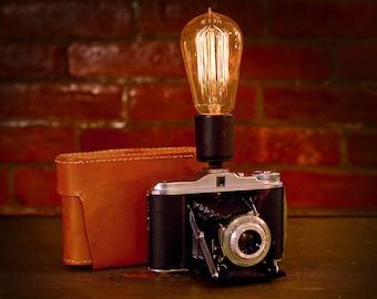 Vintage Camera Lamp: Ansco Vario