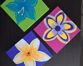 Canvas Floral Paintings