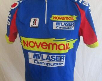 cycling vintage NOVEMAIL HISTOR blue size L shirt