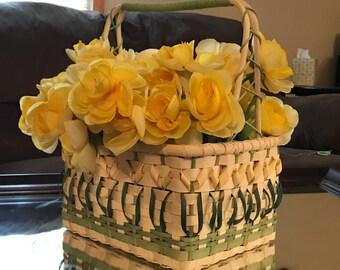 Mini peony yellow Easter Basket