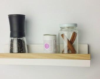 Shelf, white oak, 30cm