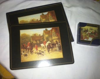 Art For Table British Themed Cork PlaceMats and Coasters