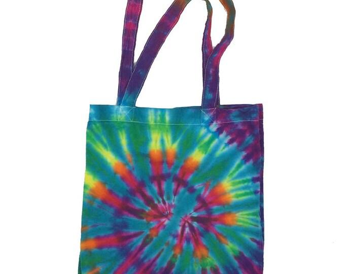 Tie Dye Tote Bag - Spiral Aqua