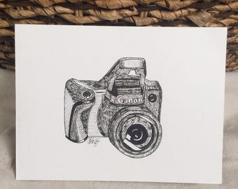 Canon Camera Pen and Ink