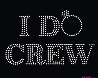 I do crew rhinestone template digital download, svg, eps, studio3, png, dxf