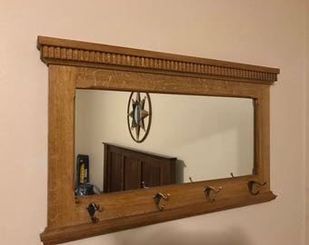 Entry Hall Mirror with Coathooks