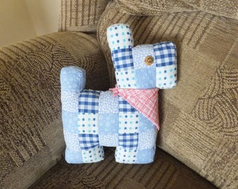 Gorgeous, hand stitched, patchwork doggy cushion