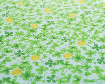 Heather Ross Briar Rose Cricket Clover (Yellow) by the 1/2 meter