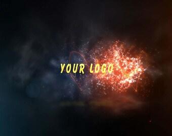 End screen video intro or outro, Burning logo