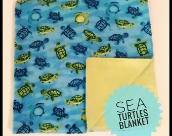 Sea turtles blanket