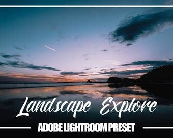 Adobe Lightroom Landscape Explore Premium Preset for Lightroom 4,5,6 and CC
