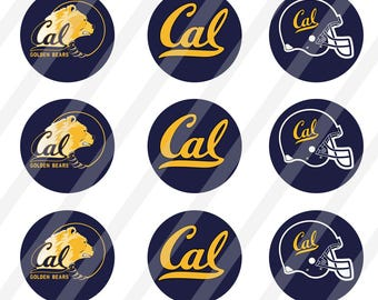 California Golden Bears 1 inch round for bottlecap sheet size 4x6 - Instant Download