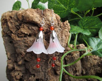 Fantasy fairy earrings red