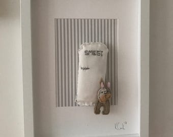 Urban Frenchie - Handmade Felt 3D Box Picture