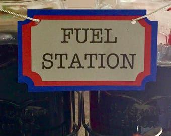 Terrific Trucks Drink Dispenser Sign