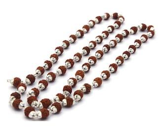 Rudrakash silver chain