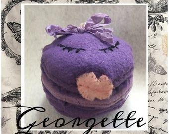 Georgette Macaron Felt Decoration