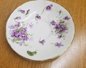 VICTORIAN Violets by hammersley saucer
