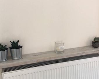 Radiator Shelf, timber distressed vintage