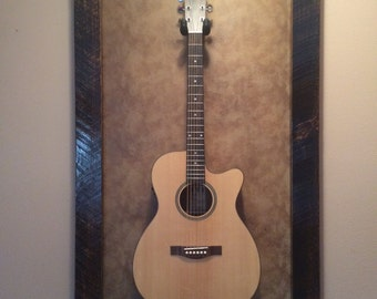 Authentic Rustic Wyoming BarnWood Guitar Frame/Stand