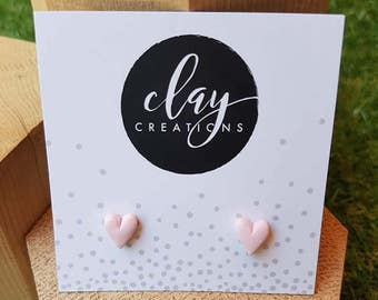 Heart Earrings - Strawberry Milkshake