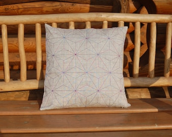 Embroidered Geometric Pillow Case - Pillow Cover - Pillow Sham