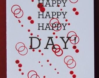 Happy Day Letterpress Card