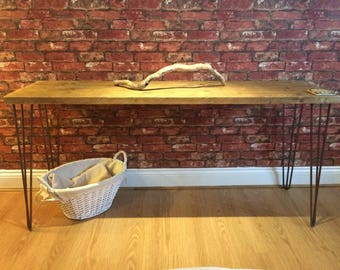 Scaffold Table with Hairpin Legs