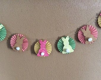 Easter Bunny Banner, Easter Garland, Easter Decor, Easter Party Supplies, Easter Bunny Butt, Handmade Easter, Spring Decor, Spring Banner