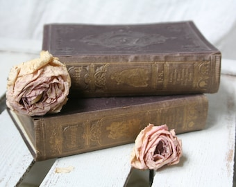 """Shabby... 2 ancient books """"Works of Lessing 's"""" 1-3 & 6-7"""