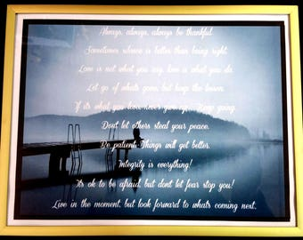 Spirituality and Self Help Picture Frame 8 1/2 x 11